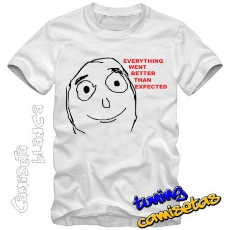 Camiseta meme Everything went better