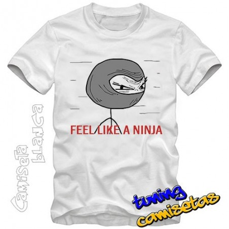 Camiseta meme Feel like a ninja