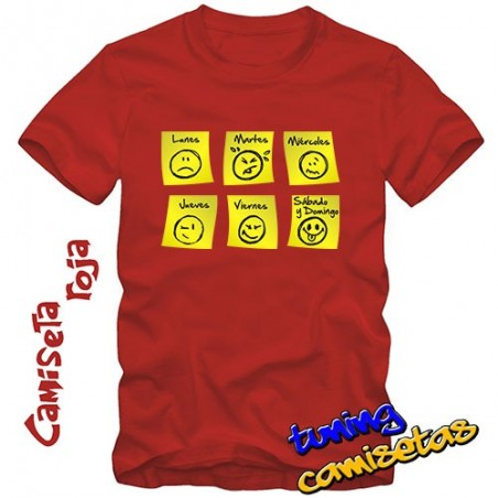 Camiseta Días de la semana V.I.