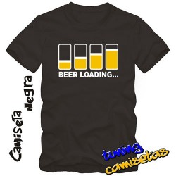 Camiseta Beer loading (vasos)