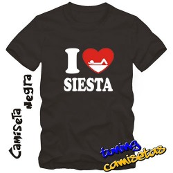 Camiseta I Love Siesta