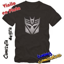 Camiseta transformers Decepticons – Vinilo en PLATA