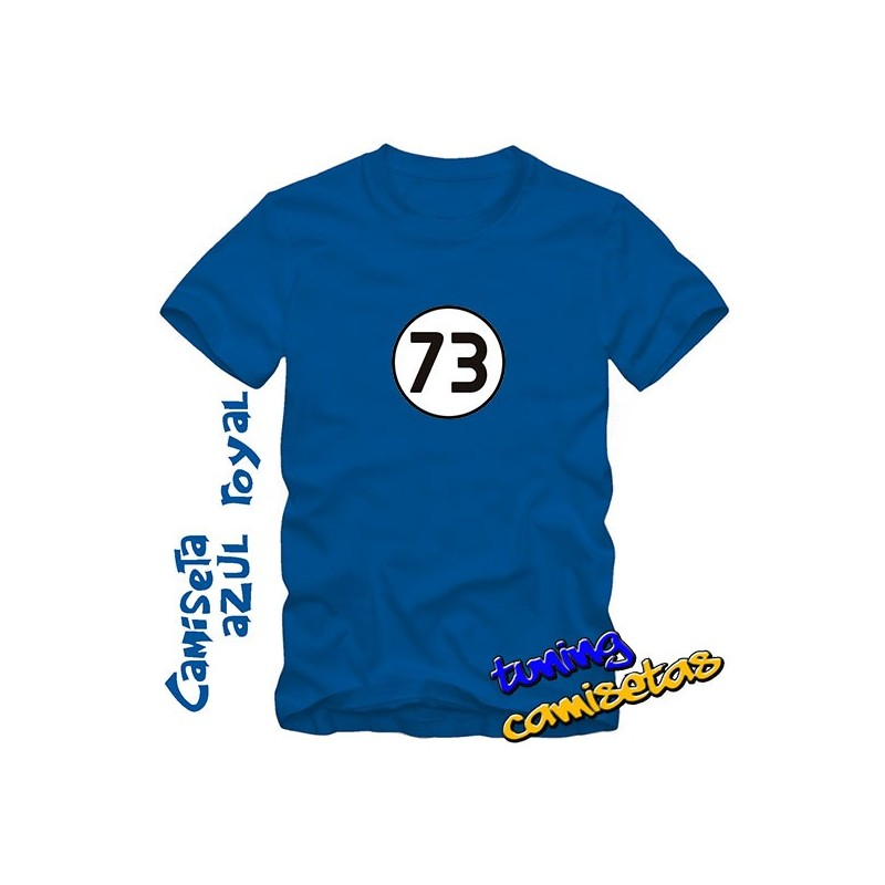 Camiseta 73 el Chuck Norris de los números - Sheldon Cooper