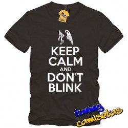 Camiseta Keep Calm and Dont Blink - Dr Who