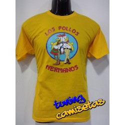 Camiseta los pollos hermanos breaking bad (VINILO IMPRESO)