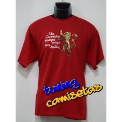 Camiseta Un Lannister siempre paga sus deudas