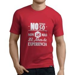 Camiseta 18 más experiencia