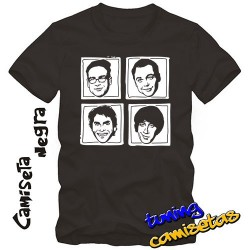camiseta the big bang theory - caras