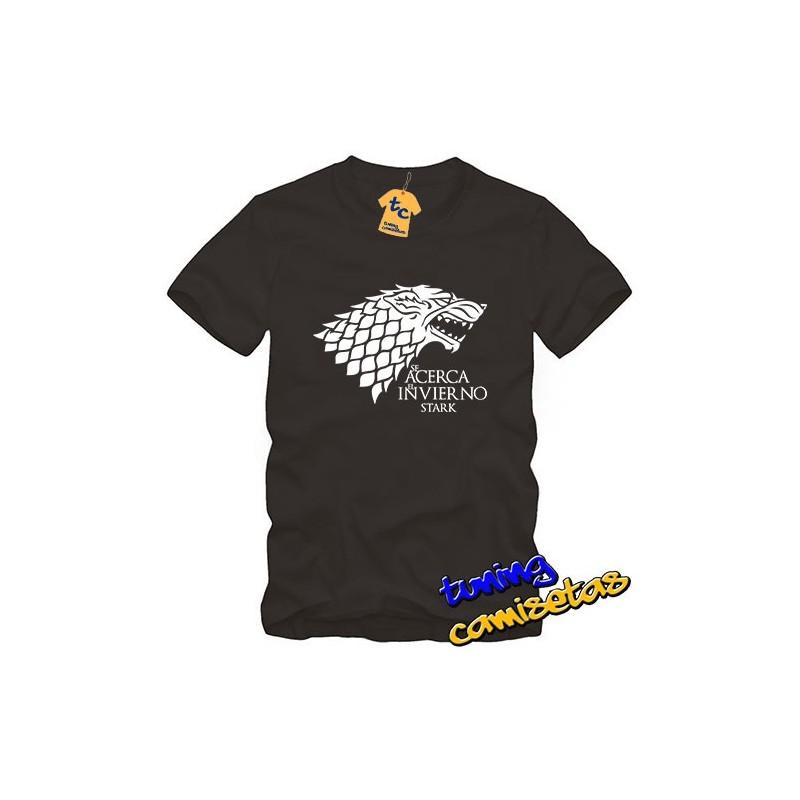 Camiseta Juego de Tronos - Se Acerca el Invierno - Stark