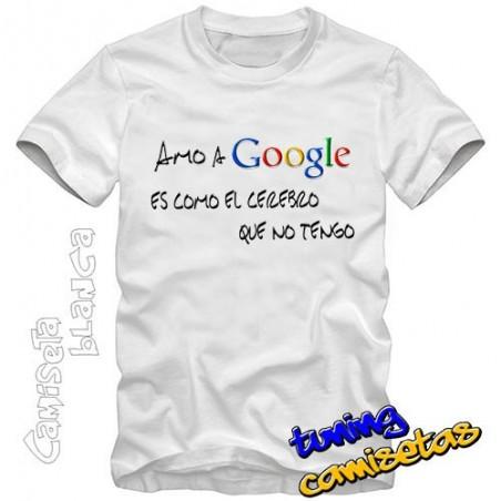 Camiseta Amo a Google I.B.