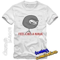 Camiseta meme Feel like a...