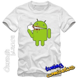 Camiseta Android come apple...