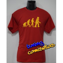 Camiseta Evolución Robot - Sheldon Cooper