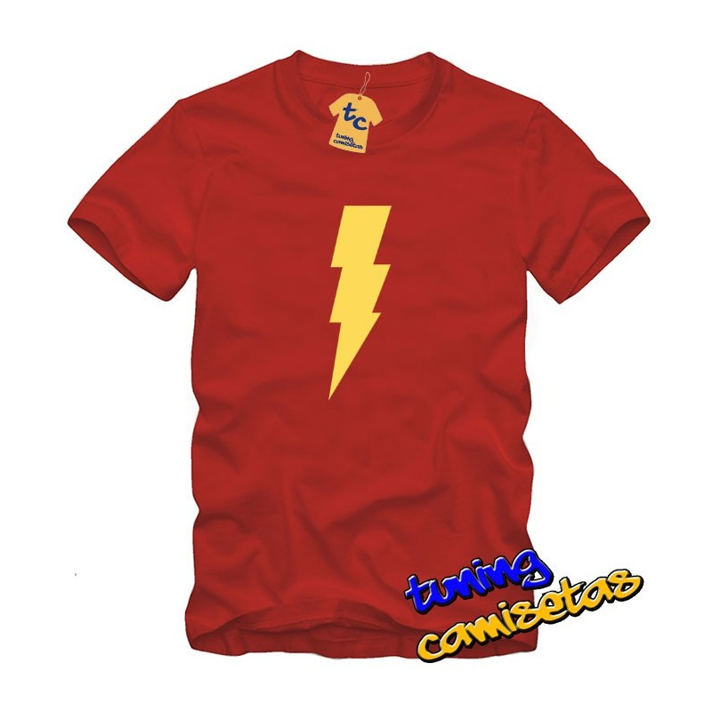 Camiseta Flash Rayo - the big bang theory