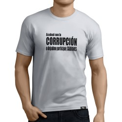 Camiseta Acabad con la corrupcion