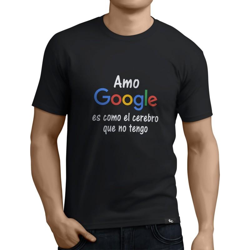 Camiseta Amo a Google (VINILO IMPRESO)
