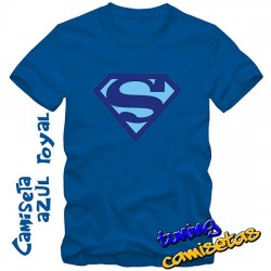 Camiseta Superman Azul -...